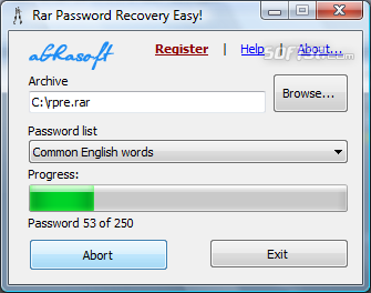 Rar Password Recovery Easy Screenshot 1