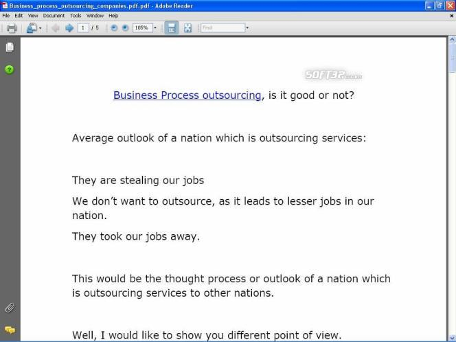 Business Process Outsourcing Profit Book Screenshot 3
