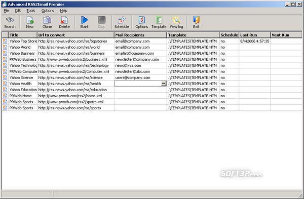Advanced RSS2Email Enterprise Screenshot 3