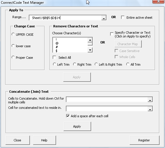 ConnectCode Text Manager Screenshot 1