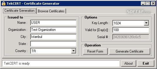 TekCERT Screenshot 3
