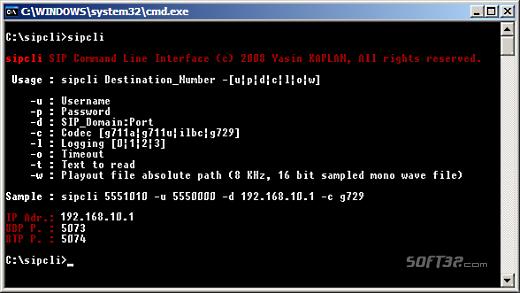 sipcli Screenshot 2