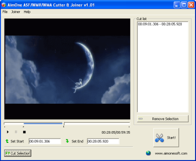 AimOne ASF/WMV/WMA Cutter & Joiner Screenshot