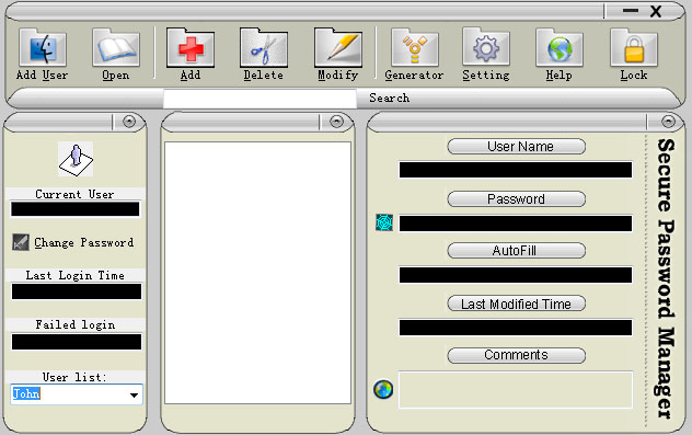 Secure Password Manager Screenshot