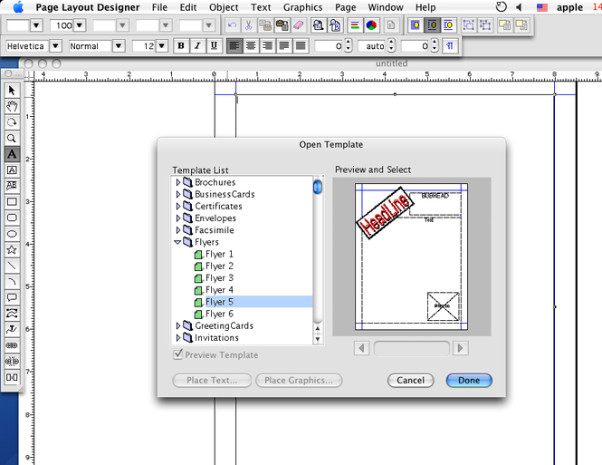 iWinSoft Page Layout Designer for Mac Screenshot