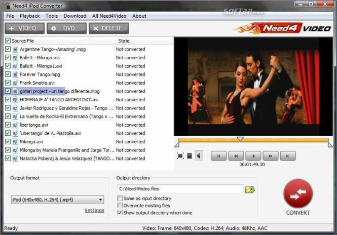 Need4 iPod Converter Screenshot 3