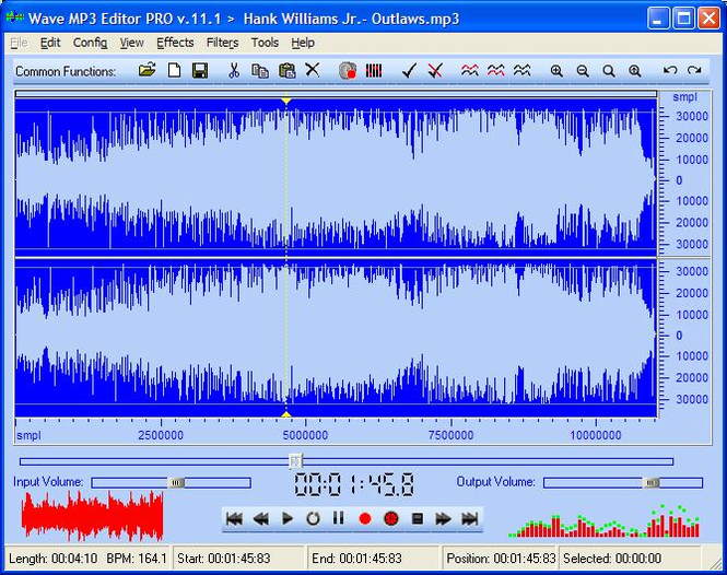Wave MP3 Editor Screenshot
