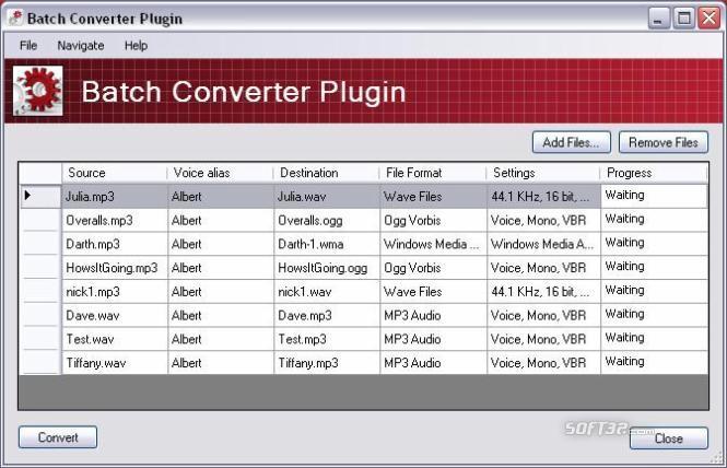 Batch Converter Plug-In for MorphVOX Pro Screenshot 2