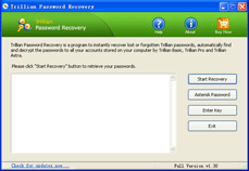 Trillian Password Recovery Screenshot