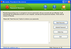 Mirandan Password Recovery Screenshot
