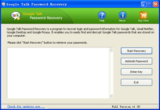 Google Talk Password Recovery Screenshot
