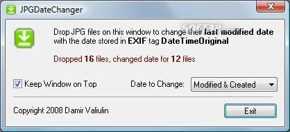 JPGDateChanger Screenshot