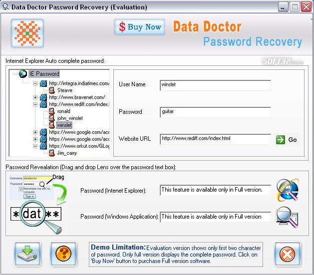 Internet Explorer Password Revealer Screenshot 3