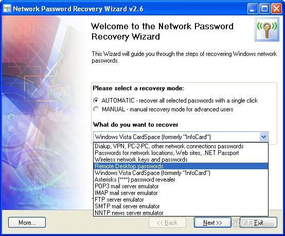 Network Password Recovery Wizard Screenshot 3