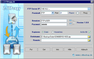 Z-FTPcopyII Screenshot