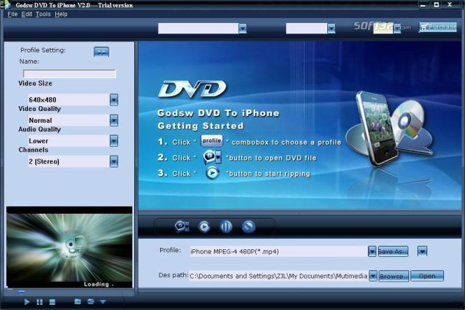 Godsw DVD to iPhone Screenshot 3