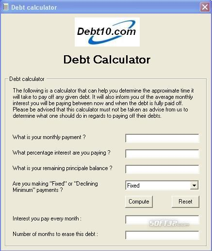 Debt10 Calculator Screenshot 3