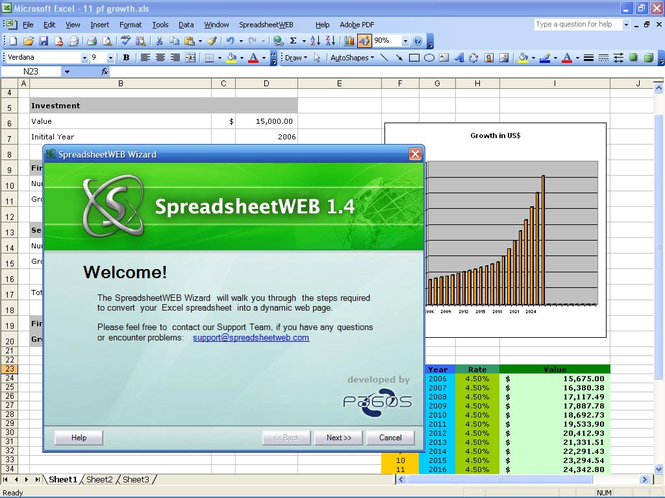 Pagos SpreadsheetWEB Screenshot
