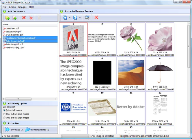 A-PDF Image Extractor Screenshot