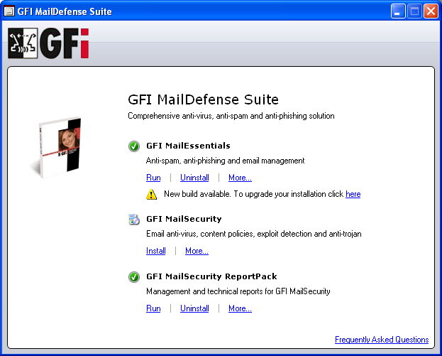 GFI MailDefense Suite Screenshot 1
