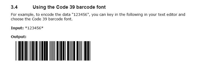 ConnectCode Free Barcode Fonts for Mac Screenshot