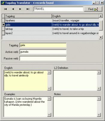 Tagalog Translator Screenshot