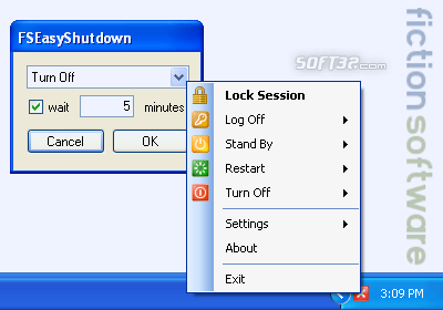 FictionSoftware EasyShutDown Screenshot