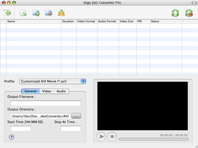 Kigo DVD Converter for Mac Screenshot