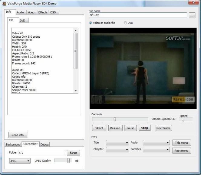 VisioForge Media Player SDK (Delphi Version) Screenshot 3