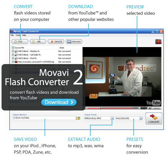 Movavi Flash Converter Olympics Edition Screenshot