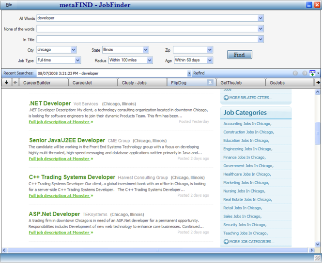 JobFinder Screenshot