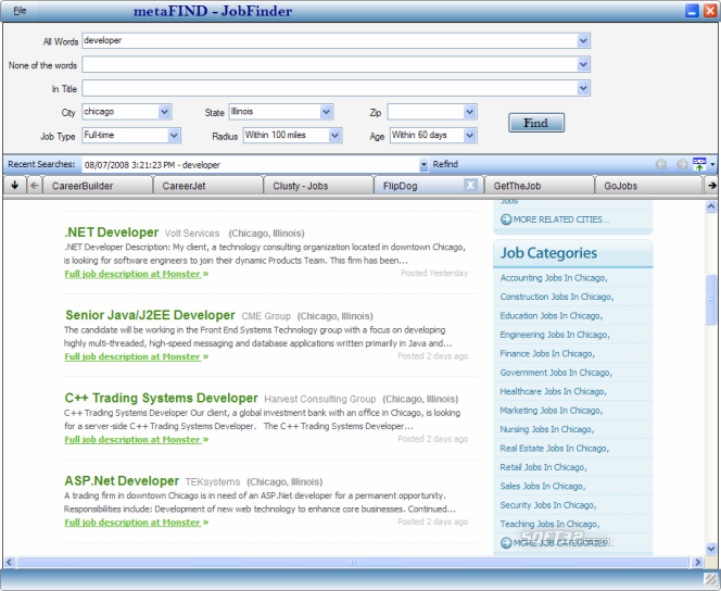 JobFinder Screenshot 2