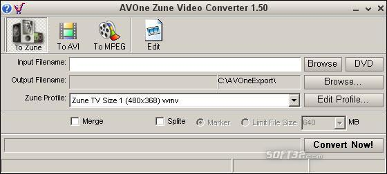 AVOne Zune Video Converter Screenshot 2