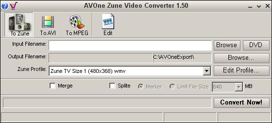 AVOne Zune Video Converter Screenshot