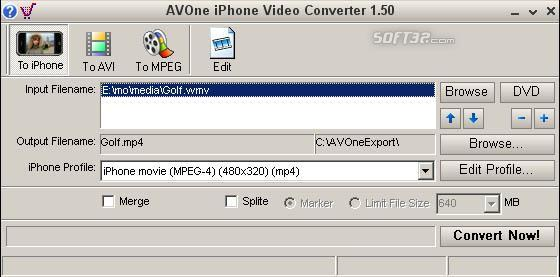 AVOne iPhone Video Converter Screenshot 2