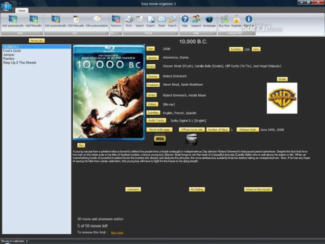 Easy movie organizer Screenshot
