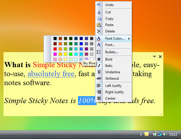 Simple Sticky Notes Screenshot