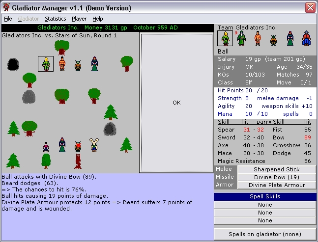 Gladiator Manager Screenshot