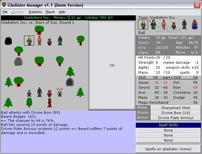 Gladiator Manager Screenshot 2