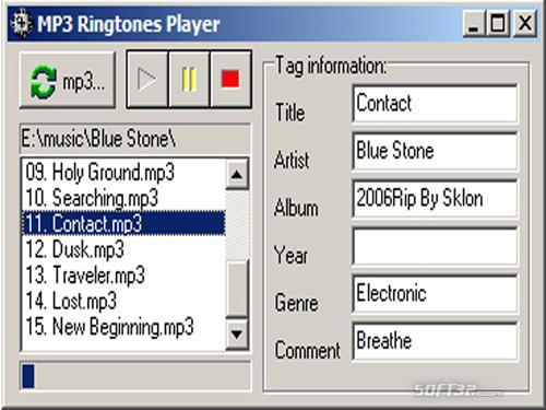 Free Ringtones Player Screenshot 1