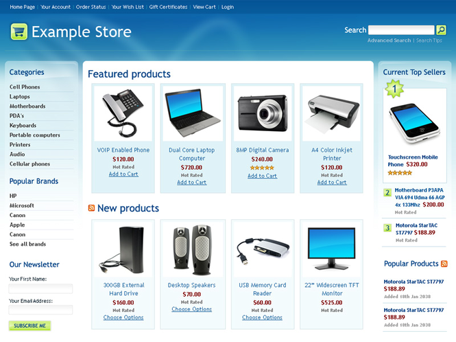 Interspire Shopping Cart Screenshot 1