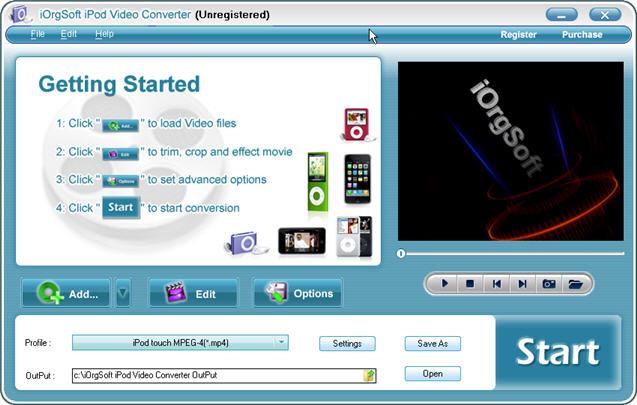 iOrgSoft iPod Video Converter Screenshot 1