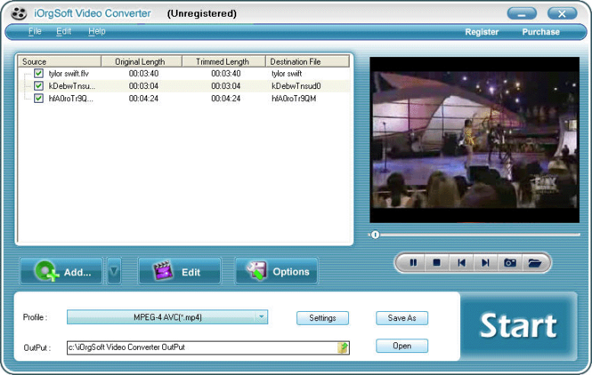 iOrgSoft 3GP Video Converter Screenshot