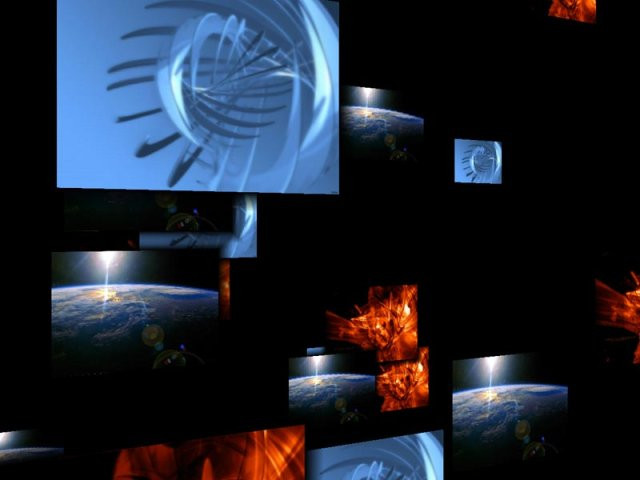 AVS Flying Images ScreenSaver Screenshot