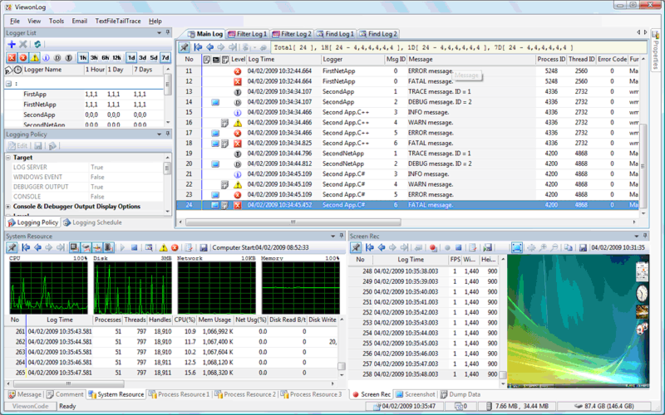 ViewonLog for Visual Studio 2008 Screenshot