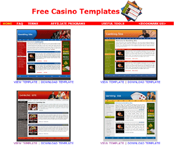 Free Casino Templates Screenshot