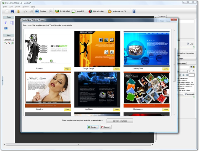 IncrediFlash Website Template Screenshot