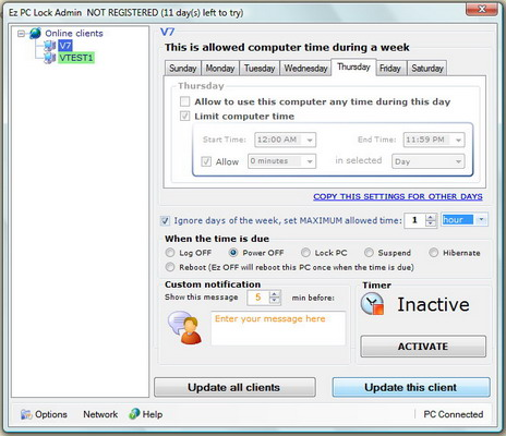 Ez PC Lock Screenshot