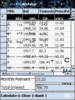 MxCalc CalculatorSuite for PocketPC Screenshot