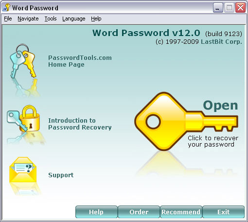 LastBit Word Password Recovery Screenshot